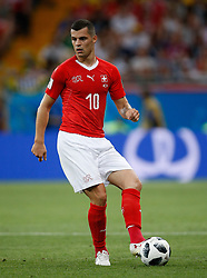 June 17, 2018 - Rostov Do Don, Rússia - ROSTOV DO DON, RO - 17.06.2018: BRAZIL VS SWITZERLAND - Granit Xhaka of Switzerland during a match between Brazil and Switzerland valid for the first round of Group E of the 2018 World Cup held at the Rostov Arena in Rostov on Don, Russia. (Credit Image: © Marcelo Machado De Melo/Fotoarena via ZUMA Press)