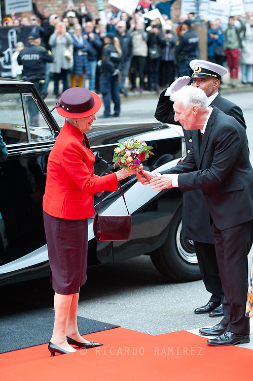 05.10.2021. Copenhagen, Denmark.<br /> Queen Margrethe's arrival to Christiansborg Palace for attend the opening session of the Danish Parliament (Folketinget).<br /> Photo: © Ricardo Ramirez