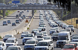 Cape Town - 160927 - Traffic clogs up on the N1 outgoing as people make their way home after work. Picture: David Ritchie