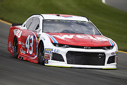 June 1, 2018 - Long Pond, Pennsylvania, United States of America - Darrell Wallace, Jr (43) brings his car through the turns during practice for the Pocono 400 at Pocono Raceway in Long Pond, Pennsylvania. (Credit Image: © Chris Owens Asp Inc/ASP via ZUMA Wire)