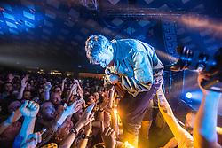 Damon Albarn, lead singer of Blur, on stage at Barrowland, Glasgow.