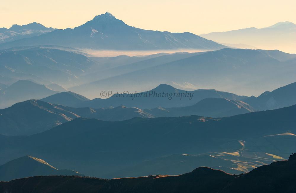 Cotacachi Volcano<br /> Andes Mountain Range<br /> ECUADOR.  South America
