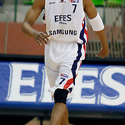 Efes Pilsen's Charles SMITH during their Turkish Basketball league match Efes Pilsen between Antalya BSB at the Ayhan Sahenk Arena in Istanbul Turkey on Wednesday 21 April 2010. Photo by Aykut AKICI/TURKPIX