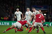 Twickenham, England, 7th March 2020, Tom CURREY, operating in mid-field, during the Guinness Six Nations, International Rugby, England vs Wales, RFU Stadium, United Kingdom, [Mandatory Credit; Peter SPURRIER/Intersport Images]
