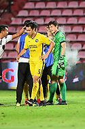 NONTHABURI, THAILAND - JULY 02: Patiwat of Pattaya United getting medical attention during the second half of the Thai League: SCG Muangthong United vs Pattaya United at SCG Stadium, Nonthaburi, Thailand on July 02, 2017.<br /> .<br /> .<br /> .<br /> (Photo by: Naratip Golf Srisupab/SEALs Sports Images)<br /> .<br /> Any image use must include a mandatory credit line adjacent to the content which should read: Naratip Golf Srisupab/SEALs Sports Images