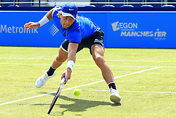 Liam Broady of Great Britain in action - Mandatory by-line: Matt McNulty/JMP - 31/05/2016 - TENNIS - Northern Tennis Club - Manchester, United Kingdom - AEGON Manchester Trophy
