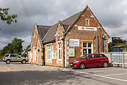 Railway station building at Pewsey, Wiltshire, England, UK