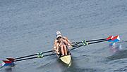 "Rio de Janeiro. BRAZIL.   USA W2X, <br /> BOW, Meghan O'LEARY And Ellen TOMEK,  2016 Olympic Rowing Regatta. Lagoa Stadium,<br /> Copacabana,  ""Olympic Summer Games""<br /> Rodrigo de Freitas Lagoon, Lagoa. Saturday  06 August<br /> , 2016 <br /> <br /> [Mandatory Credit; Peter SPURRIER/Intersport Images]"