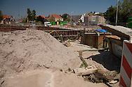Nieuwbouw winkelcentrum met appartementen en parkeergarage Boschplein Sneek