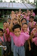 Schoolchildren; Upolu; Samoa; children school