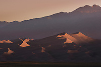 Sunrise at Great Sand Dunes National Park, Colorado.