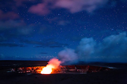 Eruption of Kilauea volcano, Volcanoes National Park, Hawaii