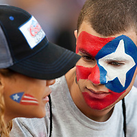 9 March 2009: Fans of Puerto Rico are seen during the 2009 World Baseball Classic Pool D game 4 at Hiram Bithorn Stadium in San Juan, Puerto Rico. Puerto Rico wins 3-1 over Netherlands