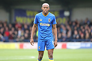 AFC Wimbledon midfielder Jimmy Abdou (8) waiting for a pass during the The FA Cup match between AFC Wimbledon and Lincoln City at the Cherry Red Records Stadium, Kingston, England on 4 November 2017. Photo by Matthew Redman.