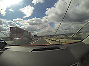 Tuesday 19th August 2014: Traffic on the Dartford Road bridge.