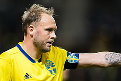 March 23, 2019 - Stockholm, SWEDEN - 190323 Andreas Granqvist of Sweden during the UEFA Euro Qualifier football match between Sweden and Romania on March 23, 2019 in Stockholm. (Credit Image: © Andreas L Eriksson/Bildbyran via ZUMA Press)