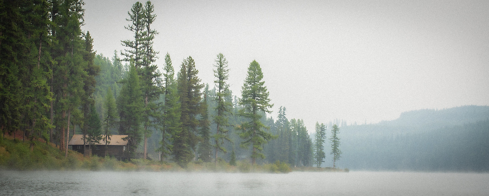 Early morning fog on the lake
