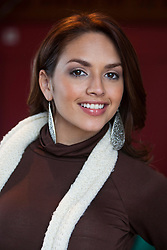 Miss Puerto Rica Amanda Vilnova..The Miss World participants visit Edinburgh Castle and will witness the firing of the One O'clock gun..MISS WORLD 2011 VISITS SCOTLAND..Pic © Michael Schofield.