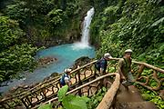 Rio Celeste Falls at Tenorio Volcano National Park, Costa Rica