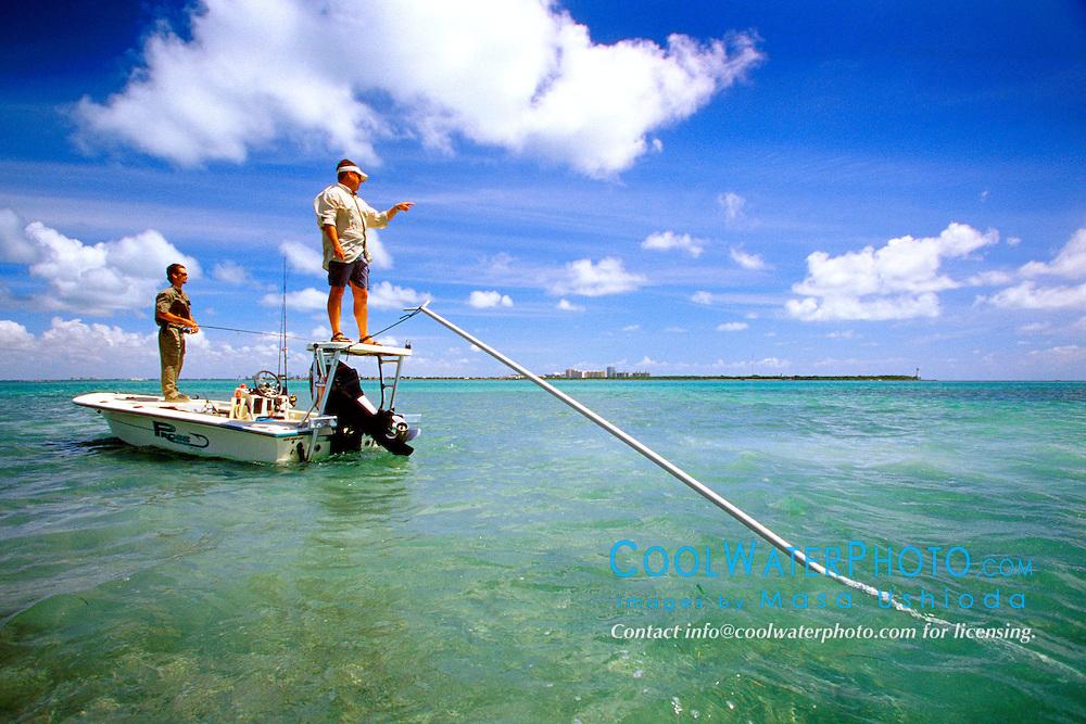 flats fishing, .Stiltsville, Biscayne National Park, .Florida (Atlantic).