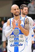 DESCRIZIONE : Campionato 2014/15 Dinamo Banco di Sardegna Sassari - Umana Reyer Venezia<br /> GIOCATORE : David Logan<br /> CATEGORIA : Post Game Postgame Esultanza<br /> SQUADRA : Dinamo Banco di Sardegna Sassari<br /> EVENTO : LegaBasket Serie A Beko 2014/2015<br /> GARA : Dinamo Banco di Sardegna Sassari - Umana Reyer Venezia<br /> DATA : 03/05/2015<br /> SPORT : Pallacanestro <br /> AUTORE : Agenzia Ciamillo-Castoria/C.Atzori