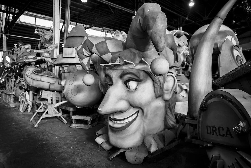 Floats in Mardi Gras World
