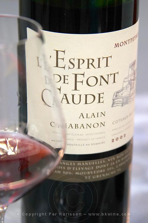 L'Esprit de Font Caude Montpeyroux, Alain Chabanon, Languedoc, France