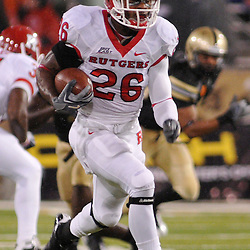 Oct 23, 2009; West Point, N.Y., USA; Rutgers cornerback Joe Lefeged (26) returns a kickoff during Rutgers' 27 - 10 victory over Army at Michie Stadium.