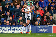 Gillingham attacker Tom Eaves (9) celebrating after scoring goal during the EFL Sky Bet League 1 match between AFC Wimbledon and Gillingham at the Cherry Red Records Stadium, Kingston, England on 23 March 2019.