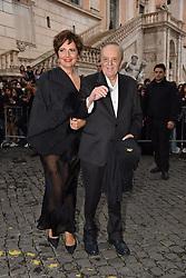Rome, Piazza Del Campidoglio Event Gucci Parade at the Capitoline Museums, In the picture: Dario Argento and companion