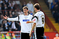 Photo: Alan Crowhurst.<br />Crystal Palace v Derby County. Coca Cola Championship. 29/04/2007. Derby players look dejected after Palace score.