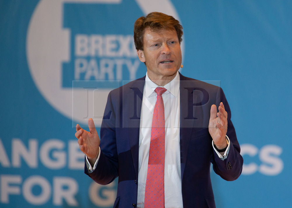 © Licensed to London News Pictures. 20/04/2019. Nottingham, UK. Brexit Party rally. RICHARD TICE speaking at the Brexit Party rally held at the Albert Hall Conference Centre, Nottingham. Photo credit: Dave Warren/LNP