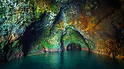 Painted Cave, Santa Cruz Island, Channel Islands National Park, California USA