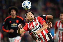 15-09-2015 NED: UEFA CL PSV - Manchester United, Eindhoven<br /> PSV kende een droomstart in de Champions League. De Eindhovenaren waren in eigen huis te sterk voor de miljoenenploeg Manchester United: 2-1 / Santiago Arias #4