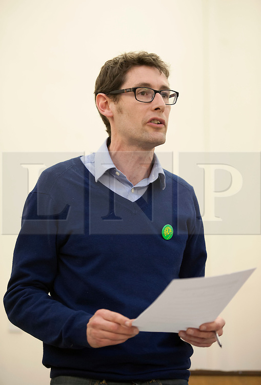 © Licensed to London News Pictures.  31/03/2015. Bristol, UK.  General Election 2015.  Darren Hall, Green Party candidate for Bristol West.  Candidates for the Bristol West constituency take part in Bristol Women's Voice Women's Question Time at the Unitarian Chapel, Brunswick Square.  Bristol West was held by Stephen Williams for the Lib Dems at the last election with a majority of more than 11,000, but both Labour and the Green Party are targeting the seat for a win.  Photo credit : Simon Chapman/LNP