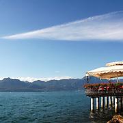 Small restaurant at Garda Lake