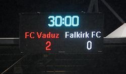 Eddie May, manager.<br /> Vaduz 2 v 0 Falkirk FC at the Rheinpark Stadium for their Europa League second-round qualifier against Vaduz in Liechtenstein.<br /> ©2009 Michael Schofield. All Rights Reserved.