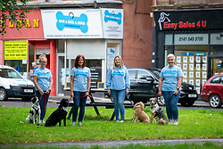Julie-Anne Anderson-Mckinlay, Wendy Hood, founder Louise Russell and Linsay Macphail at The Give A Dog A Bone charity in Shawlands.