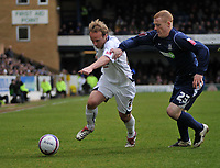 Photo: Tony Oudot/Richard Lane Photography. <br /> Southend United v Swansea City. Coca-Cola League One. 21/03/2008. <br /> Thomas Butler of Swansea goes past Nicky Bailey of Southend