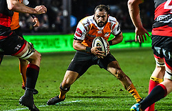 Cheetahs' Niel Marais in action during todays match<br /> <br /> Photographer Craig Thomas/Replay Images<br /> <br /> Guinness PRO14 Round 18 - Dragons v Cheetahs - Friday 23rd March 2018 - Rodney Parade - Newport<br /> <br /> World Copyright © Replay Images . All rights reserved. info@replayimages.co.uk - http://replayimages.co.uk