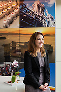 Gretchen Watkins, CEO of Shell Oil, poses for a portrait in her office at Shell headquarters in Houston, TX Monday January 21, 2019.
