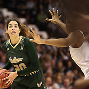 Laura Ferriera, USF, in action during the UConn Huskies Vs USF Bulls Basketball Final game at the American Athletic Conference Women's College Basketball Championships 2015 at Mohegan Sun Arena, Uncasville, Connecticut, USA. 9th March 2015. Photo Tim Clayton