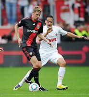Bundesliga; Bayer 04 Leverkusen - 1. FC Köln 1:4<br /> v.l. Lars Bender, Ammar Jemal (Koeln)<br /> <br /> Norway only
