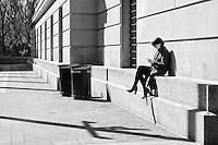 In front of the Metropolitan Museum of Art