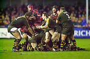 Gloucester, Gloucestershire, UK., 04.01.2003, Rob HOWLEY, scrum action from the, Zurich Premiership Rugby match, Gloucester vs London Wasps,  Kingsholm Stadium,  [Mandatory Credit: Peter Spurrier/Intersport Images],