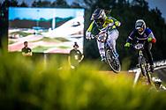 #300 (ALVES DOS SANTOS Julia) BRA Crisp Nologo at Round 7 of the 2019 UCI BMX Supercross World Cup in Rock Hill, USA