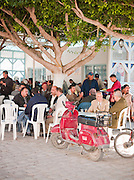 Loacls gathering in Fishing Mahdia, Tunisia