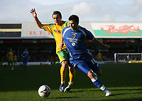 Photo: Rich Eaton.<br /> <br /> Cardiff City v Norwich City. Coca Cola Championship. 10/03/2007. Lee Croft left of Norwich and Joe Ledley of Cardiff go for the ball
