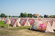 Boom. Tomorrowland 2012. Foto's bij interviews. EZ tents-camping