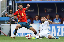 July 1, 2018 - Moscou, Rússia - MOSCOU, MO - 01.07.2018: SPAIN VS RUSSIA - Isco and Samedov during the match between Spain and Russia, valid for the eighth round of the 2018 World Cup held at the Luzhniki Stadium in Moscow, Russia. (Credit Image: © Ricardo Moreira/Fotoarena via ZUMA Press)